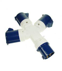 MP370B 230V 3 Way Hook-Up Splitter
