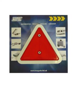 MP18 White Edged Triangle Reflector Display Packed