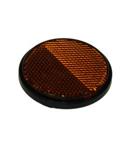 MP155SSB Radex Round Amber Self Adhesive Reflector