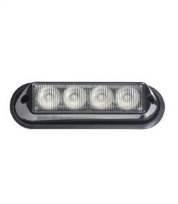 MP4113B 12/24V 12W Amber LED Strobe R65/R10/IP65